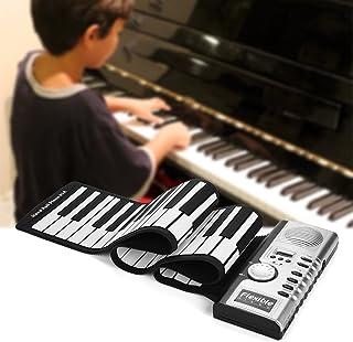Huakii Portable Rolling Up Piano, 61 Keys Electronic Keyboar