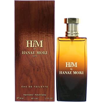Hanae Mori Him Eau de Toilette Spray for Men, 1.7 Fluid Ounce