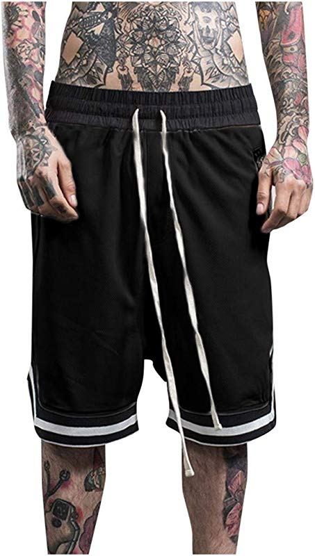 Men S Mesh Basketball Shorts Clearance Sale NDGDA Elastic Rope Stretch Pocket Casual Plain Sports Shorts