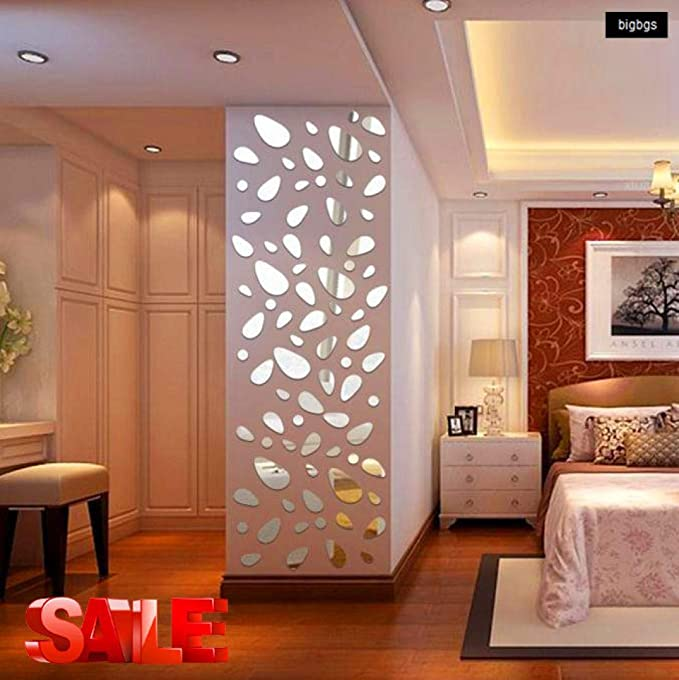 Removable Home Mirror Wall Stickers Decal Art Vinyl Room Decor DIY Self-adhesive