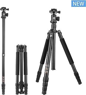 "Color : Black LLluckyHW Overhead Tripod 360/° Panorama Ball Head Enhanced Twist-Lock Flexible Sturdy Legs Tripod Camera Tripod 61/""Horizontal Arm Transverse Center Column"