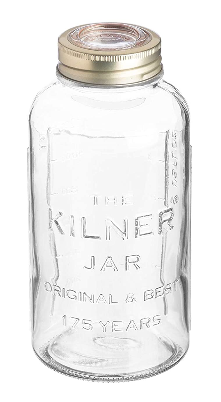 明らかに白雪姫かんたんKilner Anniversery Screw Top Jar, 1.5l