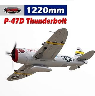 DYNAM RC Airplane P47-D Thunderbolt 1220mm Wingspan - SRTF