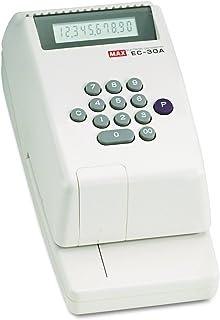Max EC-30A Max Model EC-30A Electronic Checkwriter, 10-Digit, 14-3/8w x 9-1/8d x 3-3/4h