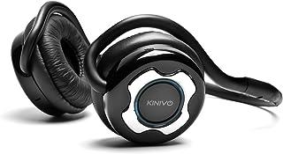 Kinivo BTH220 Bluetooth Stereo Kopfhörer   Unterstützt Drahtloses Musik Streaming und Freihändiges Telefonieren (Silber)