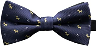 Panegy Bowtie with Print Black Bow Tie Suit Bow Tie Polyester Bow Tie Man High Quality Fibers Flies for Men Adjustable Ties Men's Tie Choice of Colours
