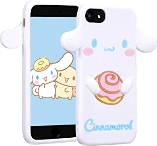 Allsky Case for iPhone SE/5S/5C/ 5,Cartoon Soft Silicone Cute 3D Fun Cool Cover,Kawaii Unique Funny Chic Kids Girls Teens Animal Character Skin Shockproof Rubble Gel Cases for iPhone5 Cinnamoroll