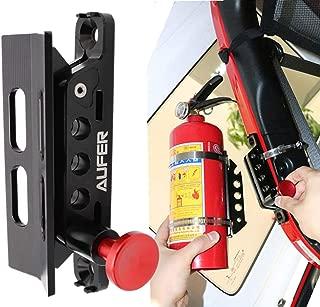 AUFER Universal Adjustable Roll Bar Bottle/Fire Extinguisher Holder Mount,Adjustable, Aluminum-1 Year Warranty