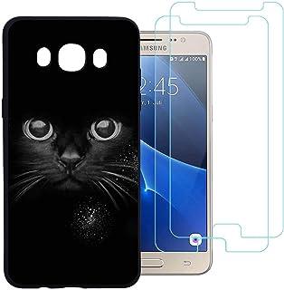 5fe61272009 jrester Funda Samsung Galaxy J5 2016,Gato Barbudo Flexible Suave Silicona  Smartphone Cascara Protectora para