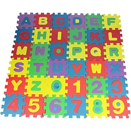 CLISPEED Lot de 36 tapis de sol puzzle pédagogique en plastique Tapis de sol Mousse Jouet éducatif Carreaux en mousse emboîtables pour enfants