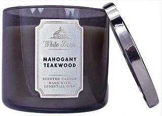 Bath & Body Works, White Barn 3-Wick Candle, Mahogany Teakwood