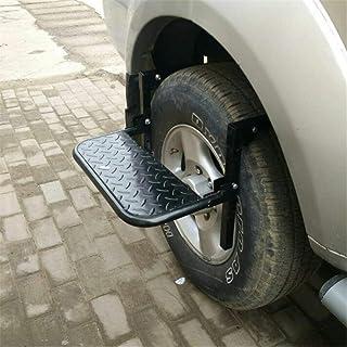 GFYWZ Rueda de la Rueda Paso Paso de Servicio Plegable Ajustable para automóvil, SUV,