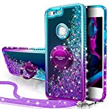 Silverback Google Pixel XL Case, Moving Liquid Holographic Sparkle Glitter Case with Kickstand, Bling Diamond Bumper W/Ring Slim Google Pixel XL Case for Girls Women 2016 -Purple