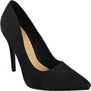 Fashion Thirsty Womens High Stiletto Heel Office Work Prom Party Pointed Court Pumps