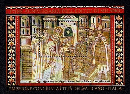 LaVecchiaScatola 2013 Vaticano editto di Milano foglietto MNH/**