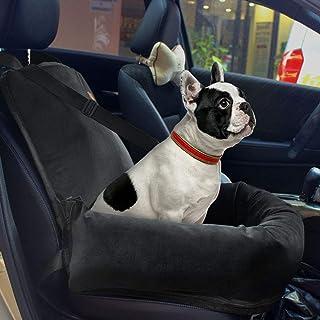 Asiento de coche para perros (tamaño pequeño y mediano) El material de felpa corta proporciona un ambiente de viaje para dormir para cachorros con base antideslizante que se puede quitar y lavar