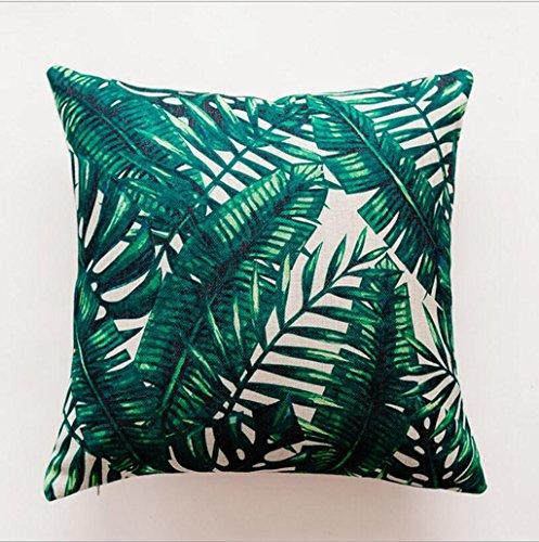 Longless Linge de Coton Feuilles Rainforest Coussin Coussin Cactus Stamp canapé Coussin Voiture