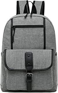 CHENDX Handbags Fashion Men and Women Couple Casual Backpack Large Capacity Zipper Backpack Retro Canvas Travel Bag (Color : Gray, Size : 40 * 30 * 14m)