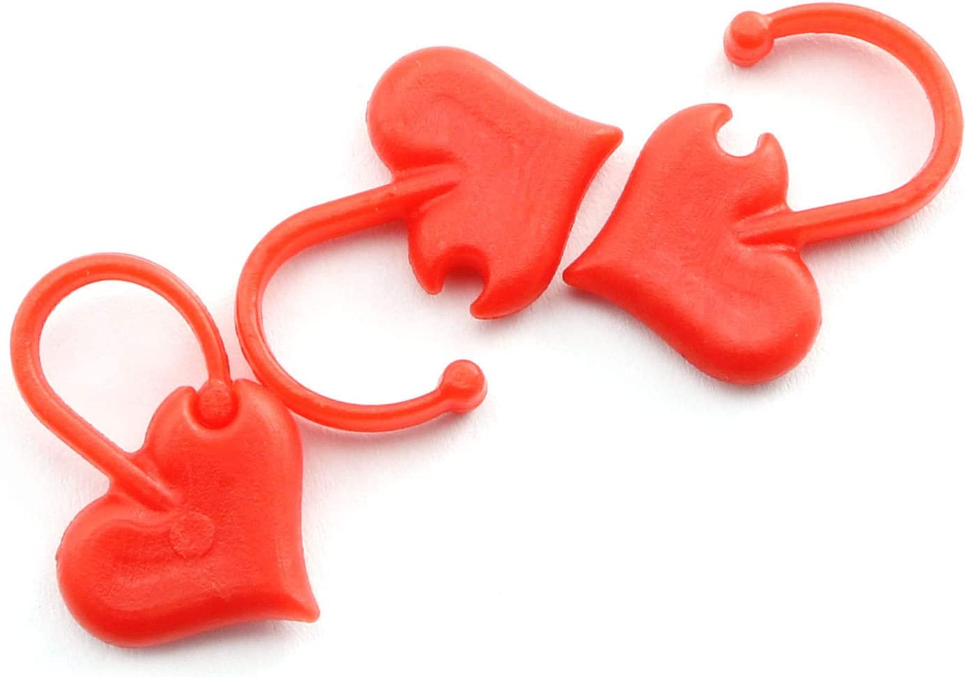 NX Garden Stitch Marker 50PCS Love Heart Markers Red Max 66% OFF Ring Nippon regular agency