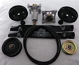 PROVEN PART 42 Inch Rebuild Kit Replaces Craftsman Spindles Pulleys Idlers Blades Belt 187292, 532192870, 197473, 196106, 197253, 532195945