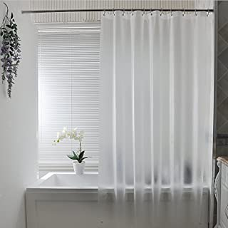 Eforcurtain 18 Gauge Semi-Transparent PEVA Shower Curtain Liner with Metal Grommets Bath Stall Curtain Waterproof, Used as Standalone or Liner Small 36 by 72-inch