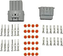 MUYI 5 Kit 12 Pin Way Superseal IP67 Waterproof Connector PA66 Nylon Housing Terminal Sockets AC/DC Conn Plug 2.2mm Series 11-21 AWG Gray