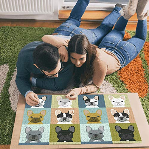 French Bulldog Illustration Funny Jigsaw Puzzles 1000 Pieces for Adults