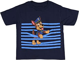 Paw Patrol Boys' Chase Jumping Through Stripes T-Shirt