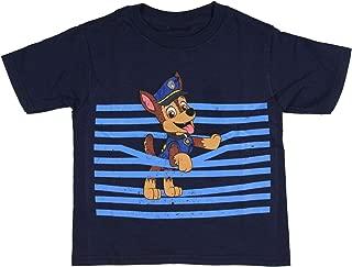 Paw Patrol Boys' Chase Jumping Through Stripes T-Shirt