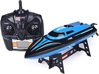 High Speed H100 RC Boat, for Pools and Lakes Remote Control Boats, 25+ mph Speed, RC Distance about 490 ft, 4 Channel