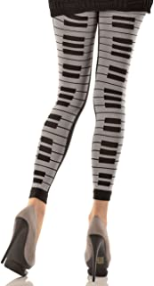 MUSIC LEGS Women's Piano Keyboard Print Leggings