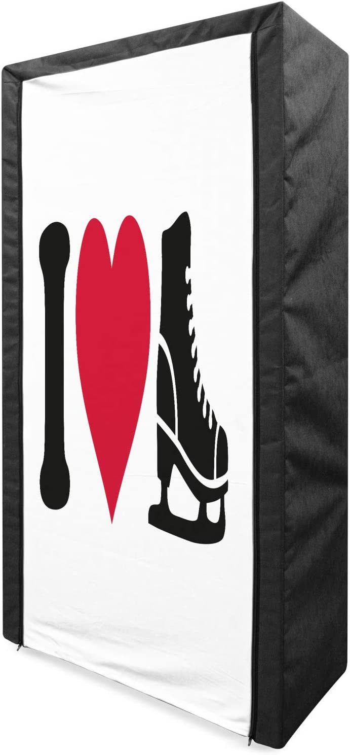 Lunarable Genuine Ice Skating Portable Pictogram Challenge the lowest price of Japan Fabric Wardrobe Design