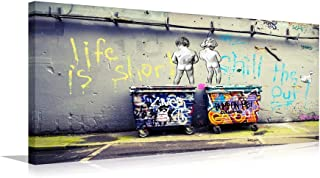 Graffiti Canvas Wall Art Painting Modern Banksy Colorful Figure Street Picture for Living Room Decoration (Colorful, XL)