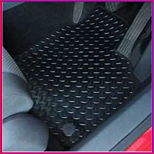 MIDELTON SA37463 Rubber  amp amp  Black Trim Tailored Car Mats