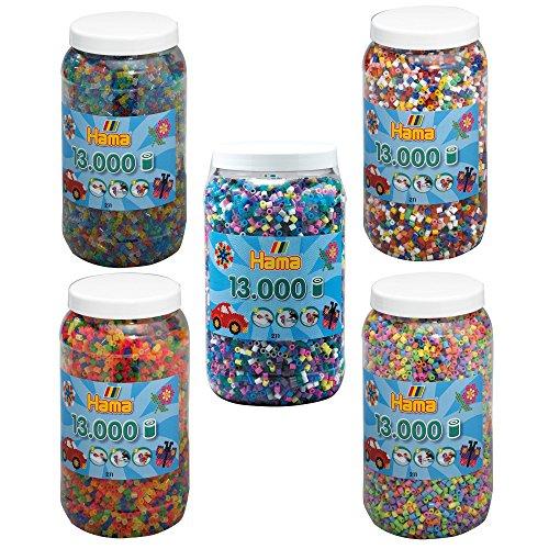 Hama Bügelperlen MIDI 5x 13.000 Bügelperlen (65.000 Perlen) 211-00 211-50 211-51 211-54 211-69 Vollton + Pastell + Neon + Glitter + Bunt & Opak