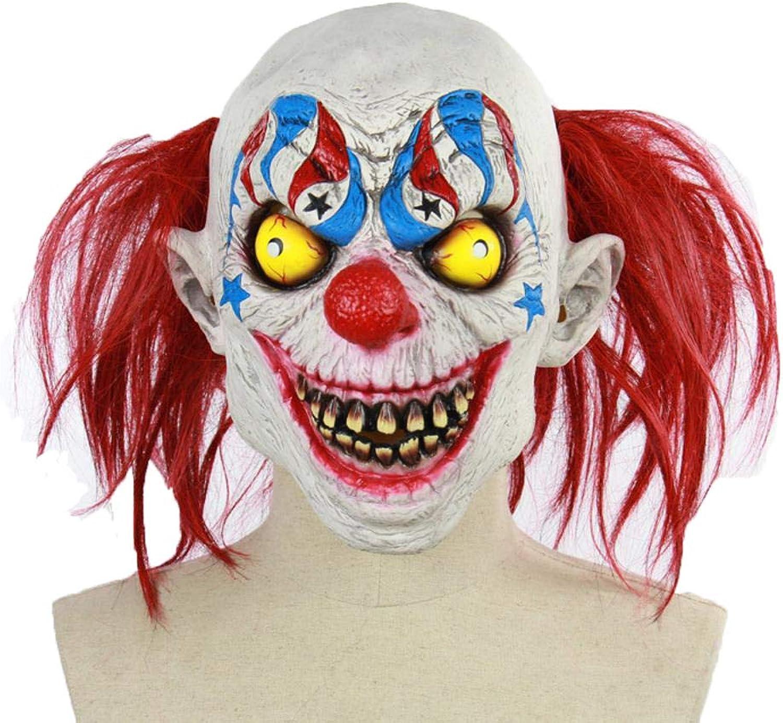 LXIANGP Latex Ghost Mask Halloween cos Horror Circus Clown bar Dance Props