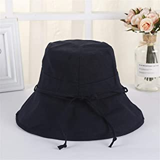 ZWHMZ Japanese Wild Big Fisherman hat ins Korean Summer Sun Protection Sun Visor Female Holiday Sun hat hat Wholesale (Color : Navy)