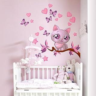 kina R00076 Adesivo murale per bambini Wall Art , Kitty love , Misure  30x100 cm ,