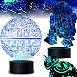 2 Bases 5 Patterns Star Wars Gifts 3D Illusion Lamp - Star Wars Toys LED Night Light for Kids Room Decor, 7 Color Change ,Cool Gifts for Men Star Wars Fans Boys Girls Birthday