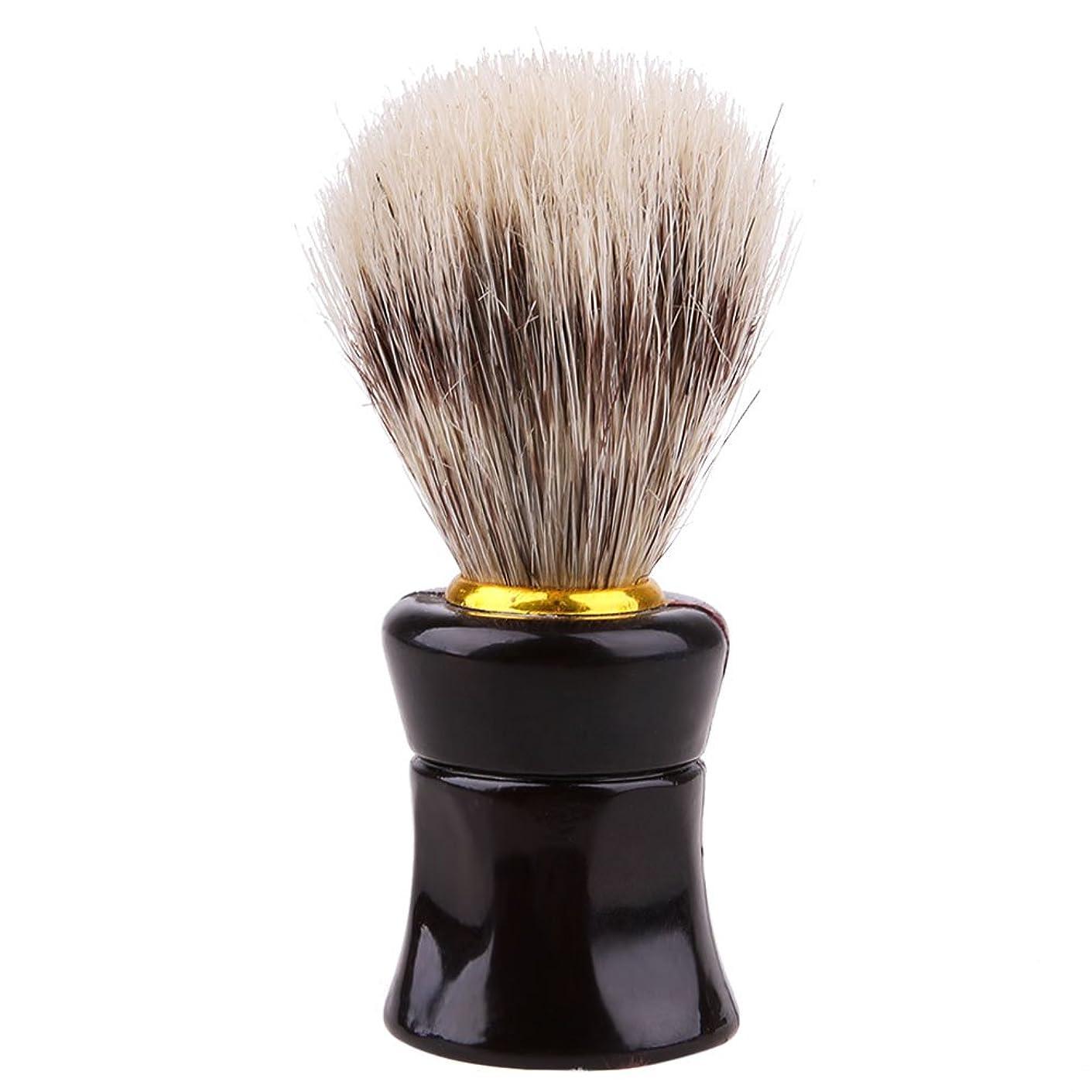 ペン脊椎有力者男性、かわいい、ひげブラシ、シェーバーブラシ、便利、実用的、美容ツール、シェービングツール、黒