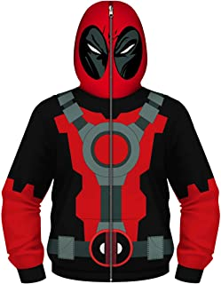 Full-Zip Up Hooded Sweatshirt for Boys Hoodie Costume with Face Mask
