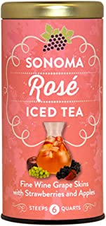 The Republic of Tea Sonoma Rose Iced Tea, 6 Large Iced Tea Pouches, Strawberry And Apple Infusion
