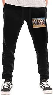Pink Floyd - Back Catalogue Men's Casual Jogger Drawstring Waist Long Sweatpants with Pockets