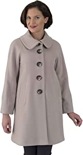 Coat Man 3/4 Single Breasted Raglan Sleeve Swing Coat with Tuck Feature On Sleeves