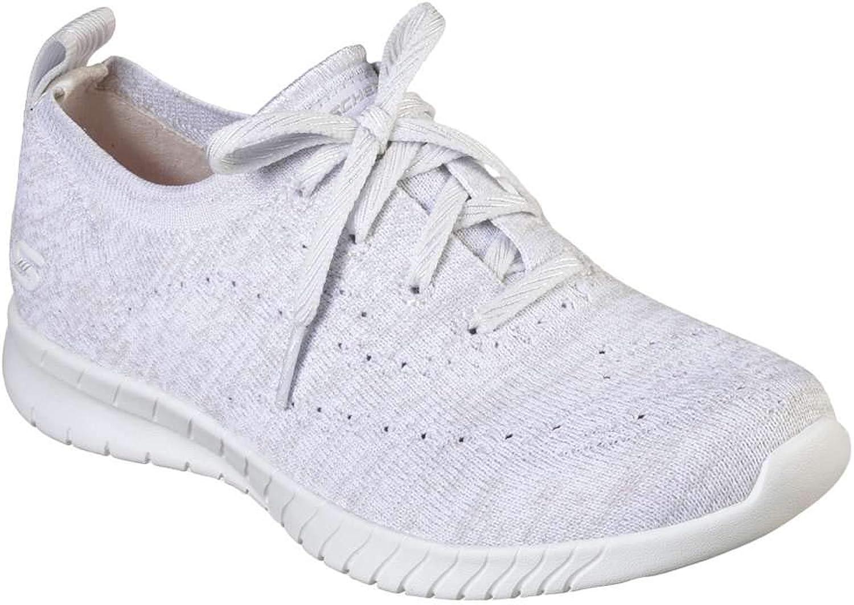 Skechers Women's Wave Lite On My Level Fashion Sneakers White Grey
