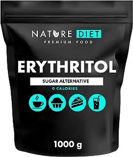 Nature Diet - Eritritol 2 x 1000 g   Edulcorante natural   Cero calorías   Reemplazo de azúcar   Sustituto de azúcar