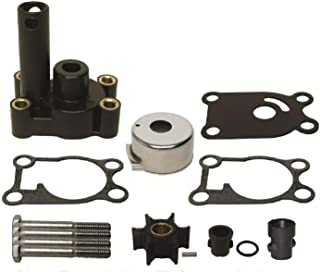 GLM Water Pump Impeller Kit with Housing for Johnson Evinrude Outboard 4, 4.5, 5, 6, 8 Hp Replaces 396644 Read Product Description for Exact Application/Fitment