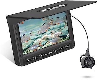 دوربین ماهیگیری زیر آب Moocor ، دوربین قابل حمل ماهی یاب HD 1000 TVL دوربین ضد آب مادون قرمز LED با مانیتور LCD 4.3 اینچی برای ماهیگیری دریاچه یخ دریا قایق کایاک