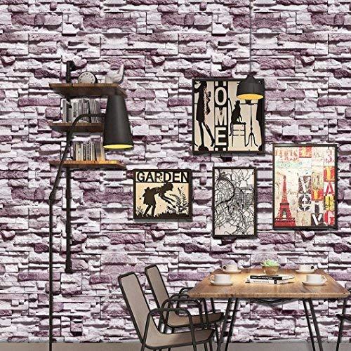 Alikeey 1 rol, ca. 40 cm x 160 cm Lijm, tegelsoort stickers, zelfklevend, DIY, keuken, badkamer, decoratie, 3D-wandsticker, van baksteen, boom Un rouleau d'environ 40 cm * 160 cm D