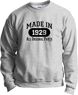 90th Birthday Gifts Made 1929 All Original Parts Crewneck Sweatshirt